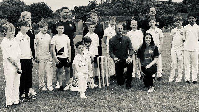 Umpire Gough Bowled Over by His Visit to the….