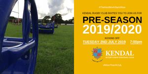 Pre-season training at Kendal Rugby Club