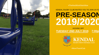 Pre-season training at Kendal Rugby Club