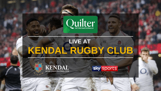 Watch the Quilter Internationals LIVE at Kendal Rugby Club