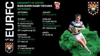 BUCS Super Rugby Fixtures 19/20
