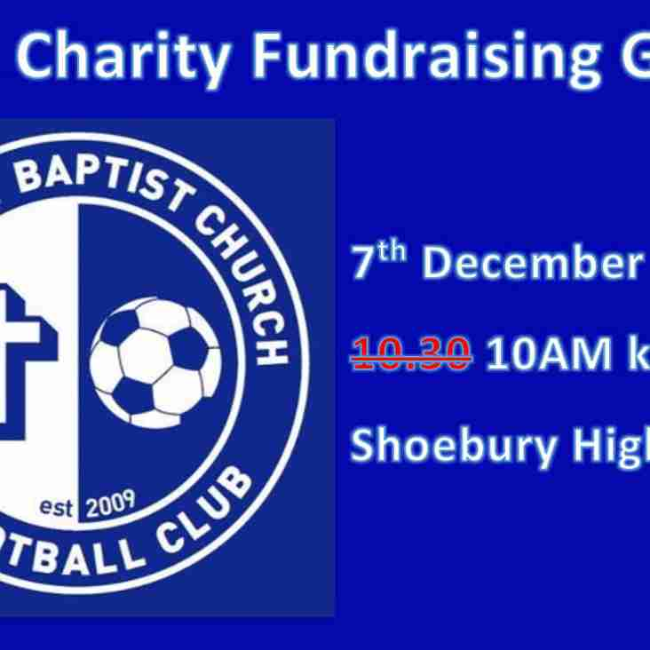 Shoebury Baptist Charity Fundraising Game - 7th Dec