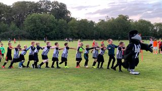 Robbie The Raven meets the under 9's- 'The Conga', Penalties and lots of fun