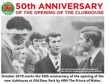 Old Deer Park Clubhouse turns 50 on the 23rd of October