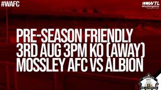 Mossley AFC admission details (Pre-season friendly)