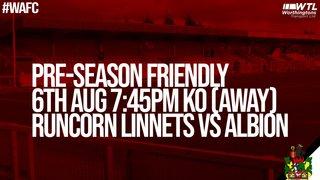 Runcorn Linnets admission details (pre-season friendly)