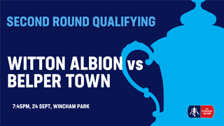 Emirates FA Cup replay on Tuesday 24th vs Belper Town