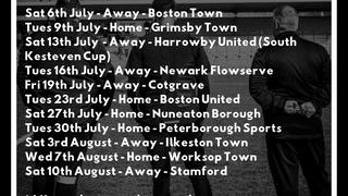 Pre-Season Fixtures!