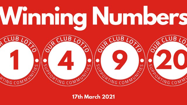 Reds Lotto Draw - Wednesday 17th March
