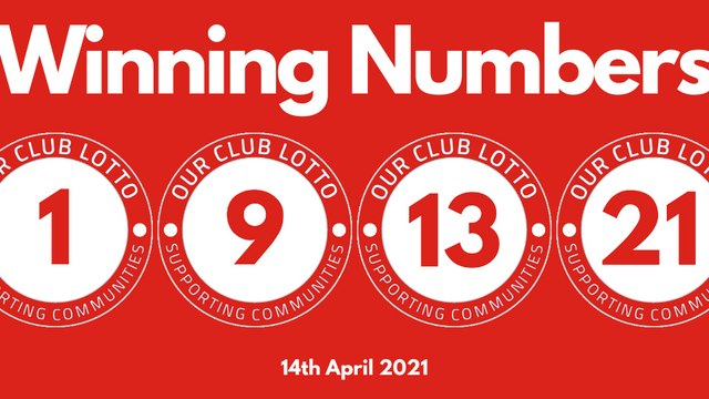 Reds Lotto Draw - Wednesday 14th April