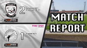 Hereford 2-1 Gateshead