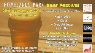 Homelands Beer Festival September 2019
