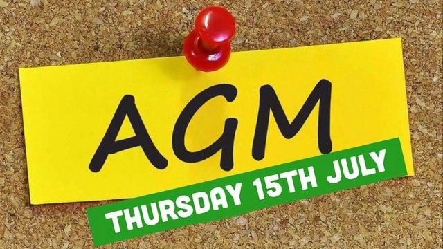 2021 AGM Thursday 15th July