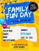 Family Fun Day Monday 27th May