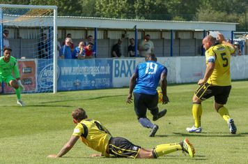 The opening goal for Town from Chris Wreh