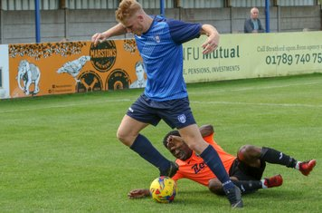 Cody Fisher battles to get in a cross