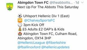 Abingdon Town vs Chalvey Sports: Preview
