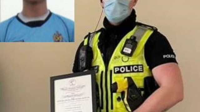 Tom Coulton, former Ware keeper, awarded for saving man's life.