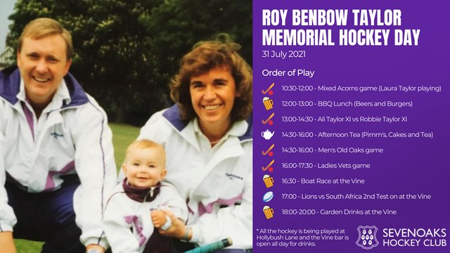 Roy Taylor Memorial Hockey Day