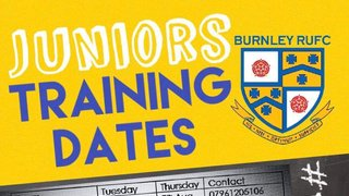 First junior rugby training dates!
