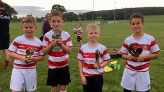 U8's trophy winners this week