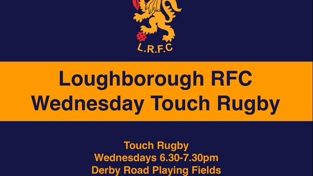 No Touch Rugby this evening!