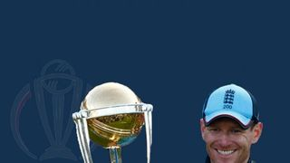 An evening with Eoin Morgan and the Cricket World Cup trophy!!