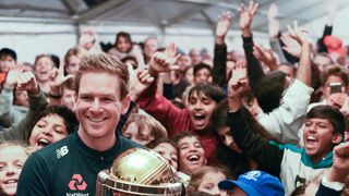 EOIN MORGAN RETURNS TO FINCHLEY WITH THE CRICKET WORLD CUP!
