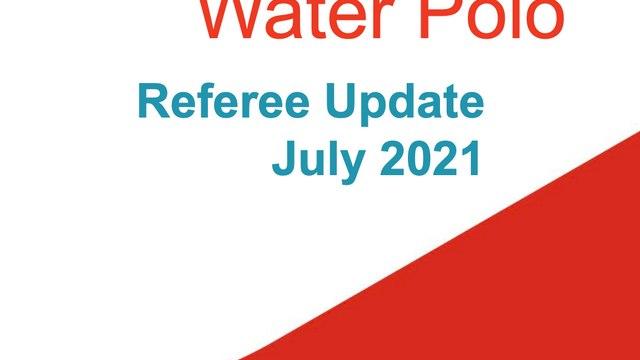 Swim England Referee Update 2021