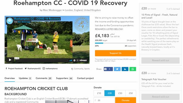Crowdfunder reaches 20% of target