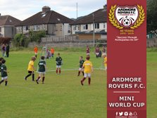 Ardmore Rovers Mini World Cup -  Sunday 30th June, 7 to 10 Year Olds