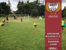 Ardmore Rovers Summer Camp Registration Desk at Mini World Cup