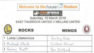 East Thurrock United Vs Welling United 10/03/2018