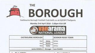 Eastbourne Borough Vs Bognor Regis Town.02/04/2018