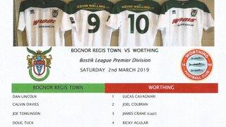 Bognor Regis Town Vs Worthing 02/03/2019