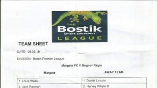 Margate Vs Bognor Regis Town 09/03/2019