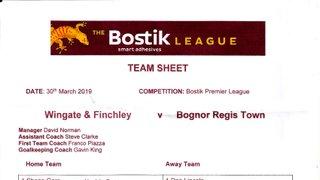 Wingate & Finchley 30/03/2019