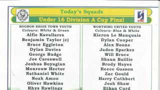 Bognor Regis Town U16s Vs Worthing United U16s (1)