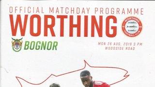 Worthing Vs Bognor Regis Town 26th August 2019