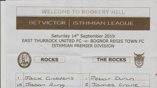 East Thurrock United Vs Bognor Regis Town