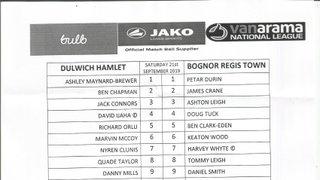Dulwich Hamlet Vs Bognor Regis Town