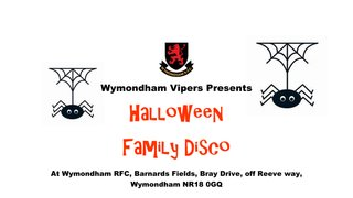 Halloween Family Disco Friday, 18 October 7pm-9.30pm