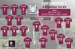 1st XV Team Named for Cooke Junior Cup Encounter