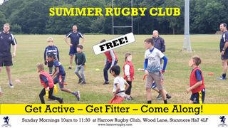 Come and join in the Summer Rugby Club!