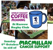 Macmillan Coffee Morning next Sunday - 6th Oct