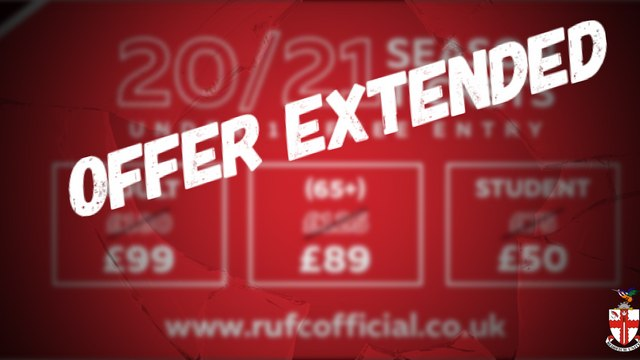 SEASON TICKETS | Offer Extended Through August After Bumper Sales
