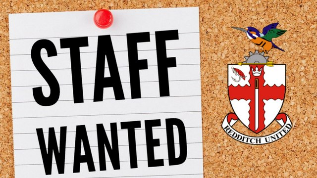 STAFF WANTED | Redditch United are Hiring Bar and Kitchen Staff