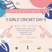 GIRLS' CRICKET DAY - CALLING ALL GIRLS AGED 8 - 14 (26th September 2020)