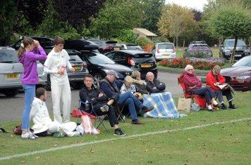 Spectators watch ACC v Chertsey