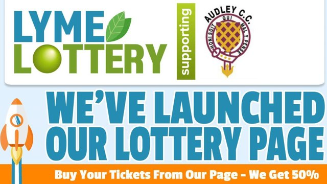 Play the lottery and support Audley Cricket Club!!!